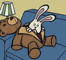 Teddy Bear And Bunny - Inner Soul by Brett Gilbert
