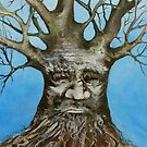 Portrait of Old Man Tree.  by Cathy Gilday
