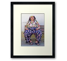 Turkish Village Woman In Traditional Clothing Framed Print