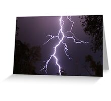 Lightning up close Greeting Card