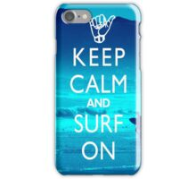 Keep Clam and Surf On iPhone Case/Skin