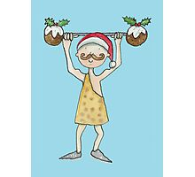 Christmas Strongman  Photographic Print