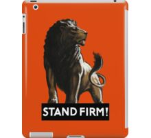Stand Firm Lion -- WW2 Propaganda iPad Case/Skin