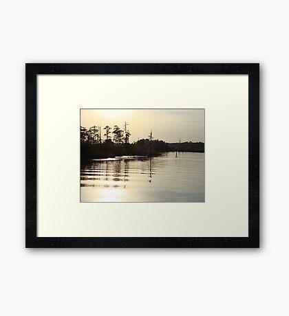 Sunset on Bear Creek 9-25-2012 Framed Print