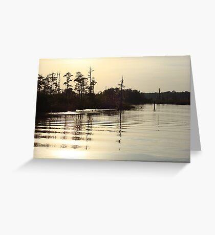 Sunset on Bear Creek 9-25-2012 Greeting Card