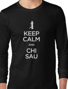 Keep Calm and Chi Sau (Wing Chun) - Light Long Sleeve T-Shirt