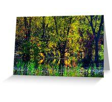 Fall Reflections at Turkey Bayou Greeting Card