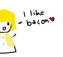 Quinn Fabray Likes Bacon by braynigelmurray