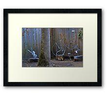 welded steel, summer 2012 Framed Print