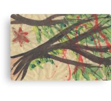 Splatter Blossoms Canvas Print
