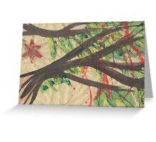 Splatter Blossoms Greeting Card