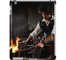 Old style manual labour Blacksmith Middle Ages Period iPad Case/Skin