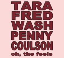 Tara, Fred, Wash Penny, Coulson. Oh the feels. Kids Clothes