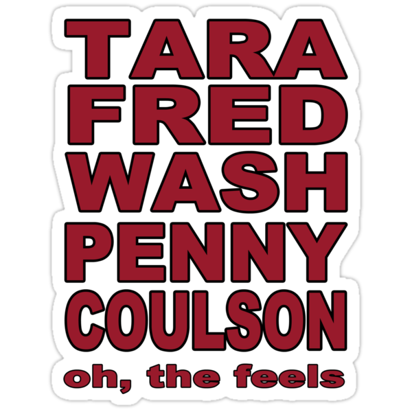 Tara, Fred, Wash Penny, Coulson. Oh the feels. by perilpress