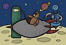 Teddy Bear And Bunny - Filler Up by Brett Gilbert