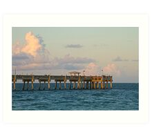 Fishing Pier Art Print