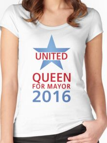 United - Queen for Mayor Women's Fitted Scoop T-Shirt