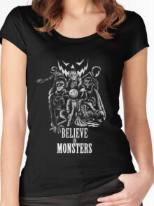 Believe In Monsters Women's Fitted Scoop T-Shirt