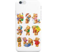 New Year Teddy Bears iPhone Case/Skin