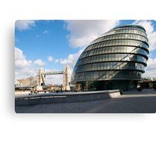 City Hall and Tower Bridge, London, UK Canvas Print