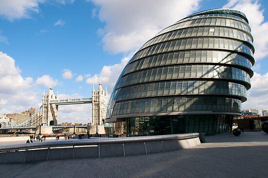 City Hall and Tower Bridge, London, UK by Paris Franz