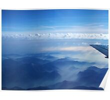 Flying over Alps Poster
