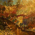 Our Little Kilmore Creek after the rains, Victoria, Australia by Margaret Morgan (Watkins)