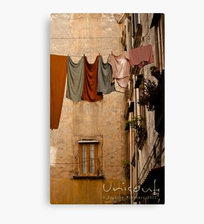 Hanging pale clothing Canvas Print