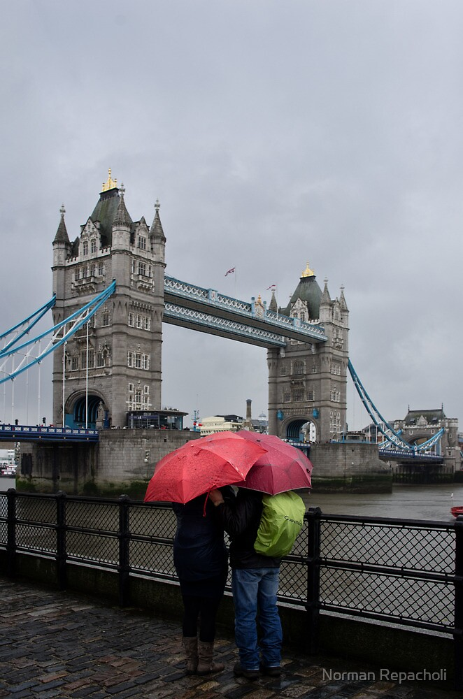 Umbrella admiration - Tower Bridge - London - Britain by Norman Repacholi