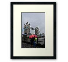 Umbrella admiration - Tower Bridge - London - Britain Framed Print
