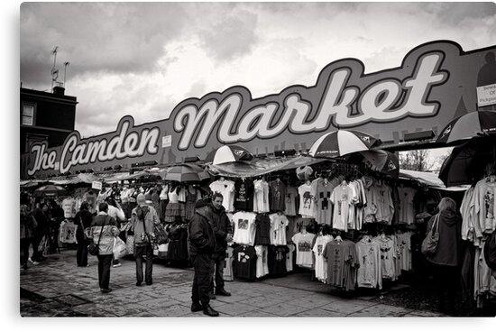 The Camden Market - Britain by Norman Repacholi