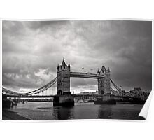 A brewing storm - Tower Bridge - London - Britain Poster