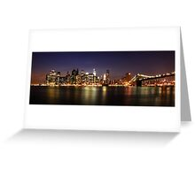 Manhattan Panoramic Greeting Card