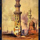 Ruined Mosques in Cairo 19th century by Dennis Melling