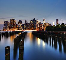 Blue Manhattan by Andrew Paranavitana