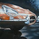 E-Type Jaguar study by Pauline Sharp