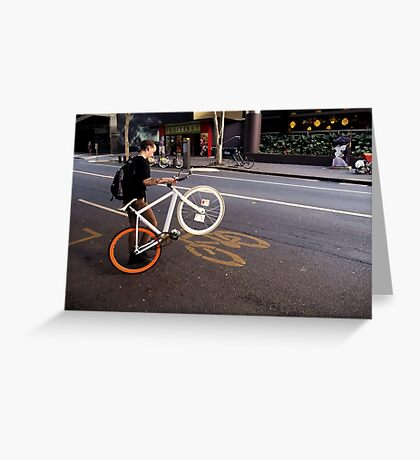 Street Bikes Greeting Card
