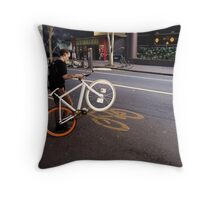 Street Bikes Throw Pillow
