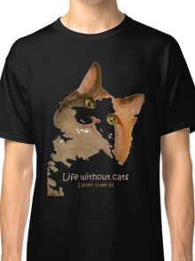 Life Without Cats Vector Classic T-Shirt