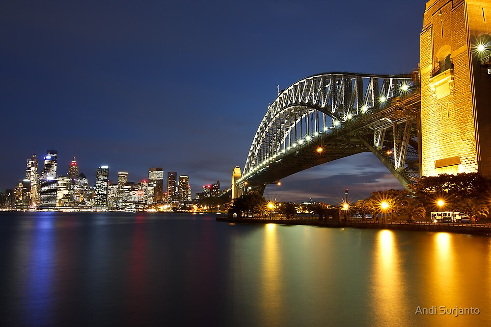Harbour Bridge and City of Sydney by Andi Surjanto