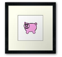 Stuffed Pig Framed Print