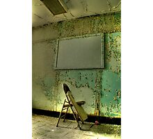 chair- Abandoned Hospital Photographic Print