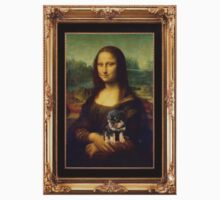 Mona Lisa Nursing Her Puppies Baby Tee