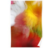 Abstract Flower Composition Poster