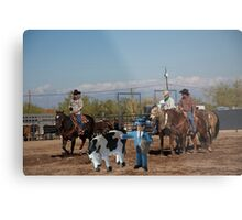 Geoff suddenly realizes there's more to this 'cowpoke' thing than he originally thought! Metal Print