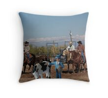 Geoff suddenly realizes there's more to this 'cowpoke' thing than he originally thought! Throw Pillow
