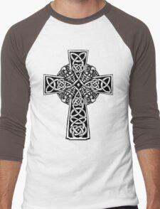Irish Cross With Grenades (BW edition) Men's Baseball ¾ T-Shirt