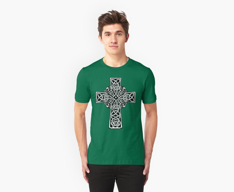 Irish Cross With Grenades (BW edition) by ZugArt