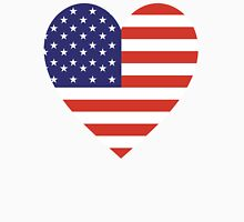 American Flag, USA, Heart, Stars & Stripes, Pure & Simple, Americana, America T-Shirt