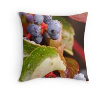 Dew Grapes Throw Pillow